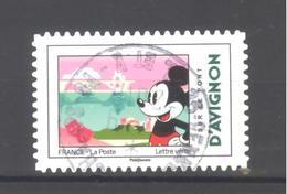 France Autoadhésif Oblitéré N°1585 (Mickey Et La France) (cachet Rond) - France