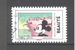 France Autoadhésif Oblitéré N°1586 (Mickey Et La France) (cachet Rond) - France