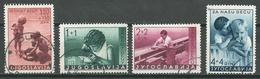 Yougoslavie YT N°339/342 Au Profit De L'enfance Oblitéré ° - 1931-1941 Royaume De Yougoslavie