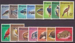 Guyana 1968 Flora And Fauna Set No Watermark Unmounted Mint. - Guyana (1966-...)