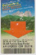 Biglietto Funivia Sasso Pordoi - Biglietti Di Trasporto