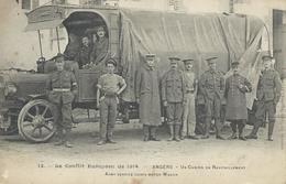 DPT 49 Le Conflit Européen De 1914  ANGERS Un Camion De Ravitaillement CPA TBE - Oorlog 1914-18