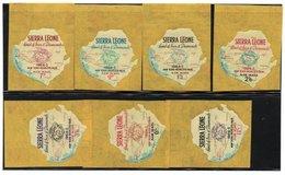 SIERRA LEONE - AIRMAIL 1964 WORLD'S FAIR NEW YORK / COMPLETE MINT SET - Sierra Leone (1961-...)