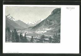 AK Splügen, Blick Auf Die Berge Und Dorf - GR Grisons
