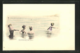 AK Baigneuses, Mer Calme, Junge Damen Im Wasser - Moda