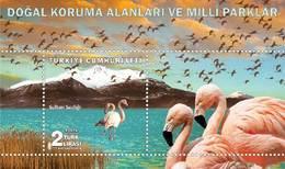 (4393) Natural Conservation Areas And National Parks Souvenir Sheet Flamingos MNH** - Nuevos