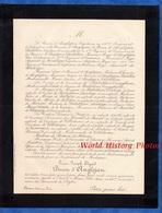 Document De 1890 - AUTUN ( Saone Et Loire ) - Louis Joseph Edgard  Baron D' ANGLEJAN , Décédé à Nice - Historical Documents