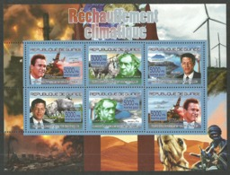 GUINEA 2007 CLIMATE CHANGE SCHWARZENEGGER GROVE GORE RHINO M/SHEET MNH - Guinea (1958-...)