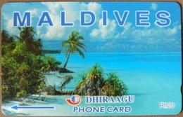 Maldives - GPT, Coconut Palms, 68MLDA, Beaches, 2000, Used - Maldives