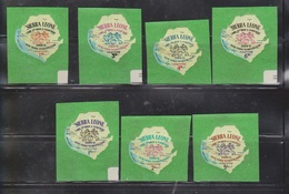 SIERRA LEONE Scott # 257-63 MNH - Die Cut Self Adhesive - NY World Fair - Sierra Leone (1961-...)