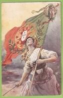 República Portuguesa - 1ª Guerra Mundial - Ilustrador - Postal Stationery Grande Guerre Great War Illustrator Portugal - Guerra 1914-18
