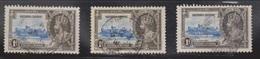 SIERRA LEONE Scott # 166 X 3 Used - KGV Silver Jubilee - Sierra Leone (1961-...)