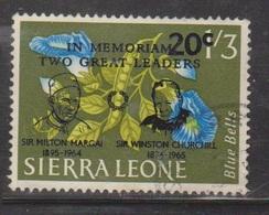 SIERRA LEONE Scott # 303 Used - Margai & Churchill Overprint - Sierra Leone (1961-...)