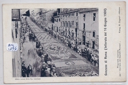 ROMA- GANZANO DI ROMA- INFIORATA DE 16 GIUGNO 1909 - Altri
