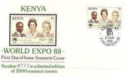 (468) World EXpo 88 - Kenya (number 0772 Of 2000) - Philatelic Exhibitions