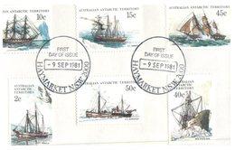 (468) AAT - Ships On Piece (with Different Base Postmarks + Haymarket) - Australian Antarctic Territory (AAT)