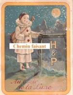 Chromo Biscuits HUNTLEY & PALMERS H&P - Au Clair De La Lune (PIERROT) -  Scans Recto-verso - Confiserie & Biscuits