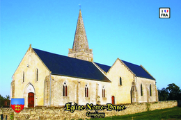 Carte Postale, églises, Churches In France (Calvados), Campigny, Église Notre-Dame - Kerken En Kathedralen