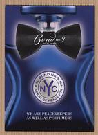 CC Carte Parfumée BOND No9 'SCENT OF PEACE FOR HIM' Perfume Postcard 1 EX. - Perfume Cards