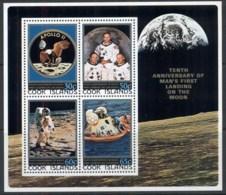 Cook Is 1979 Apollo 11 Moon Landing, Space MS MUH - Cook Islands