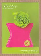 CC Carte Parfumée BOND No9 'MADISON SQUARE PARK' Perfume Postcard JAPAN 1 EX. - Perfume Cards
