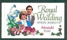 Aitutaki 1981 Charles & Diana Wedding Booklet Lot45333 - Aitutaki
