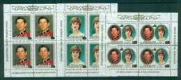 Aitutaki 1981 Charles & Diana Wedding Sheetlets Surch. MUH Lot44745 - Aitutaki