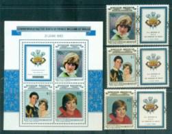 Aitutaki 1982 Princess Diana 21st Birthday + MS MUH Lot81990 - Aitutaki
