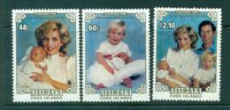 Aitutaki 1984 Diana, Henry, Willian & Charles MUH Lot30000 - Aitutaki