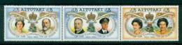 Aitutaki 1993 Coronation Anniv Str 3 MUH Lot30003 - Aitutaki