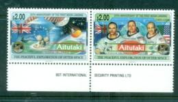 Aitutaki 1994 Space, Moon Landing 25th Anniv MUH - Aitutaki