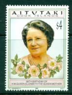 Aitutaki 1995 Queen Mother 95th Birthday MUH Lot29999 - Aitutaki