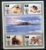 Aitutaki 2000 Summer Olympics Sydney MS MUH - Aitutaki