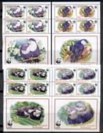 Aitutaki 2002 WWF Blue Lorikeet, Bird 4x MS MUH - Aitutaki