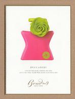 CC Carte Parfumée BOND No9 'DOUBLE CARTE' Perfume Postcard KOREA 1 EX.2 Scans - Cartes Parfumées