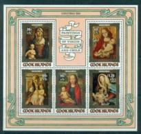 Cook Is 1984 Xmas Paintings Of Virgin & Child MS MUH - Cook Islands