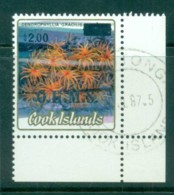 Cook Is 1985 Marine Life, Corals Opt OHMS In Silver $2 CTO - Cook Islands