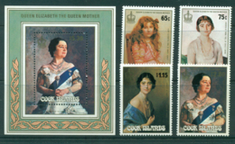 Cook Is 1985 Queen Mother 85th Birthday + MS MUH Lot30017 - Cook Islands