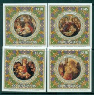 Cook Is 1985 Xmas Paintings By Boticelli 4xMS MUH - Cook Islands