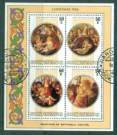 Cook Is 1985 Xmas Paintings By Boticelli Blk 4 MS FU - Cook Islands