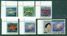 Cook Is 1986-90 Marine Life, Corals Opt OHMS In Silver Asst MUH - Cook Islands