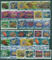 Cook Is 1987 Marine Life, Corals Surcharged Asst, Blocks & Strips MUH - Cook Islands