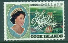 Cook Is 1987 QEII , Corals $6 Surcharge Opt. $7.20 MUH - Cook Islands