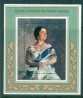 Cook Is 1987 Queen Mother Opt Hurricane Relief MS MUH - Cook Islands