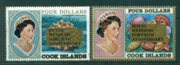 Cook Is 1987 Royal Wedding 40th Anniv Opt (small Tone Spots) MUH Lot30023 - Cook Islands