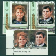 Cook Is 1987 Royal Wedding, Andrew & Sarah Surcharges MUH Lot81328 - Cook Islands