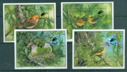 Cook Is 1989 WWF Endangered Species, Birds, Opt Birdpex '90, 4xMS MUH - Cook Islands