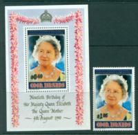 Cook Is 1990 Queen Mother 90th Birthday + MS MUH Lot30009 - Cook Islands
