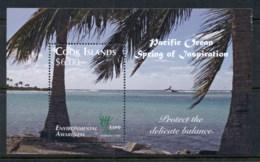Cook Is 2010 Environmental Awareness, Marine Life, Fish, Flowers, Coconuts MS MUH - Cook Islands