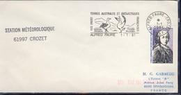 TAAF LETTRE  DU 01/01/1981 STATION METEO  AVEC DALLAY N°86 - Storia Postale